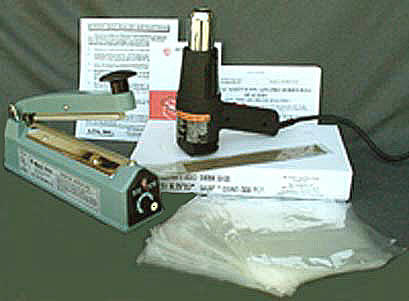 Shrink Bag Starter Kits Kit Includes Heat Gun Sealer And 500 Bags Ideal For Cds Dvds Soaps Candles Etc